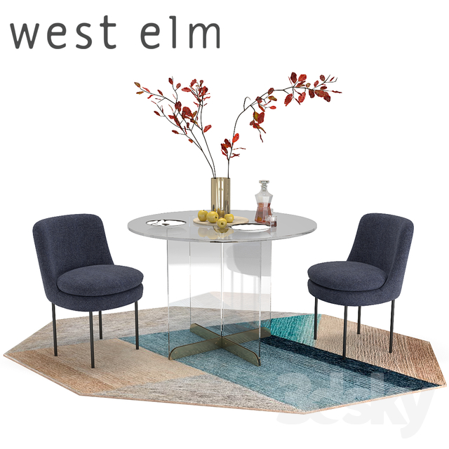 Modern Chair West Elm Gaston Upholstered Chair West Elm