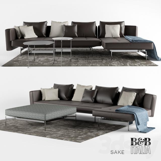 3d models sofa sak sofas by b b italia for B b sofa
