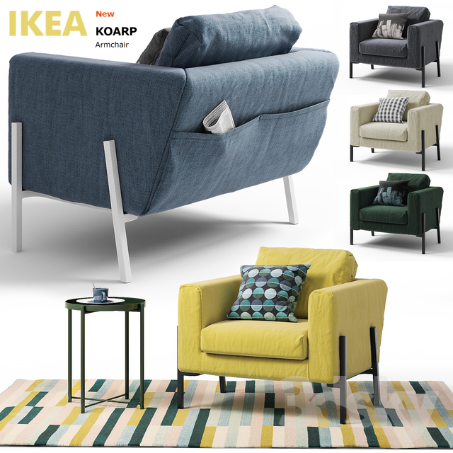 3d Models Arm Chair Koarp Ikea Ikea Coarp