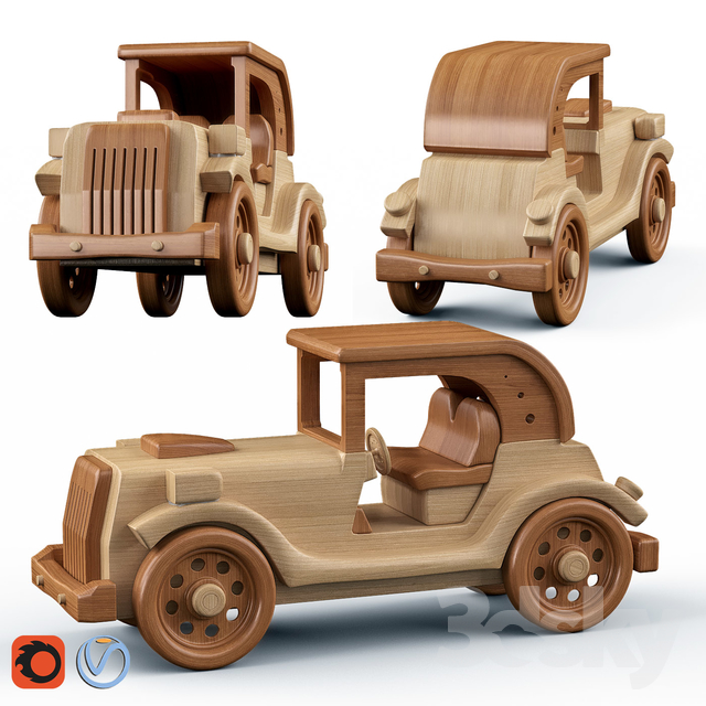Cabriolet wooden toys