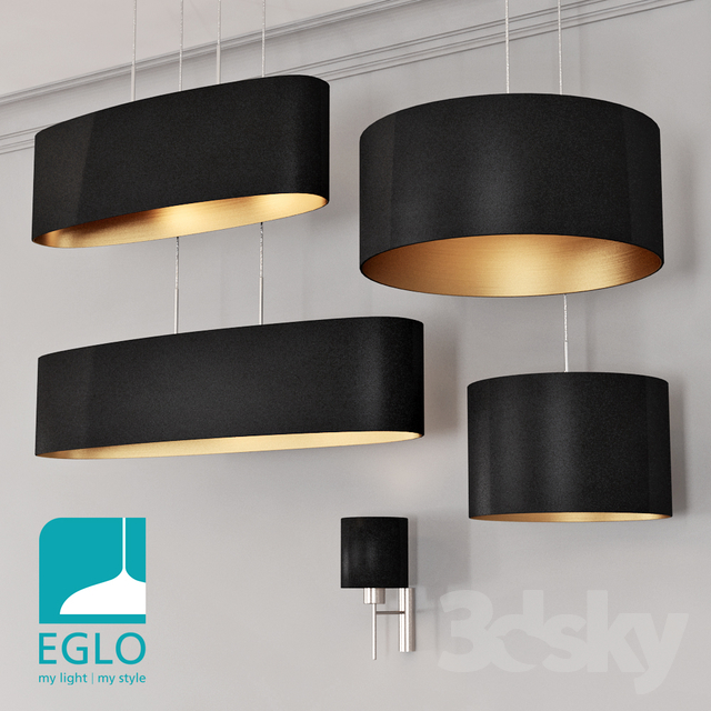 EGLO PASTERI set 4 Black & Gold