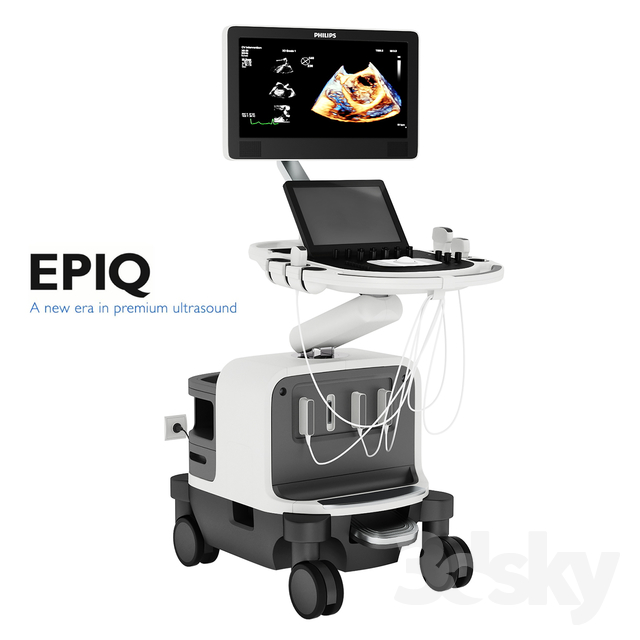 3d Models Miscellaneous Ultrasound Philips Epiq 7