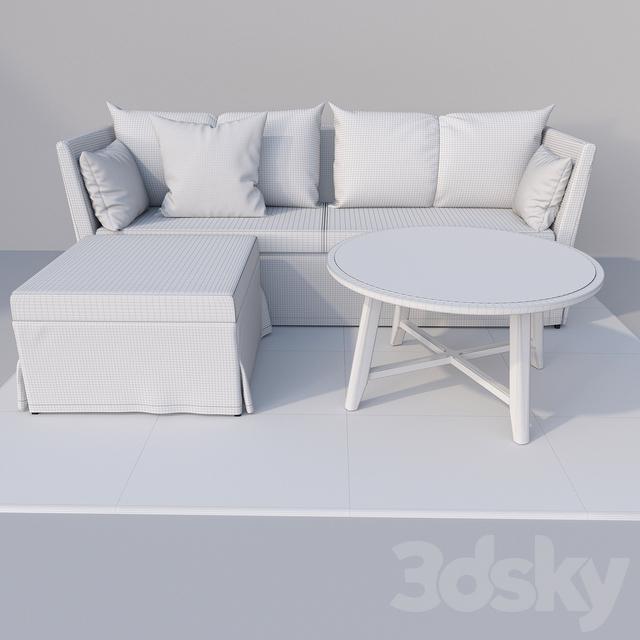 3d models sofa ikea sandbacken corner sofa. Black Bedroom Furniture Sets. Home Design Ideas