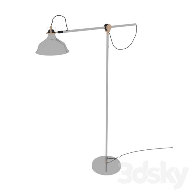 3d models floor lamp ikea ranarp floor lamp steel for Ranarp white floor lamp