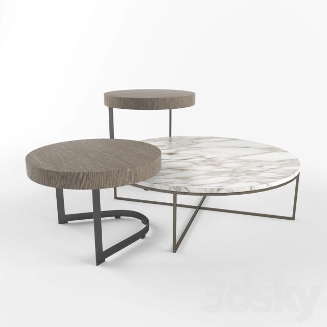 "3d models: Table - Minotti Kay and Calder ""Bronze"""