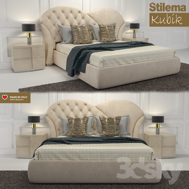 Paris Kubik bed set