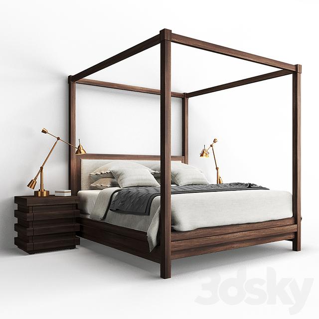 3d Models Bed Restoration Hardware Stacked Bed And