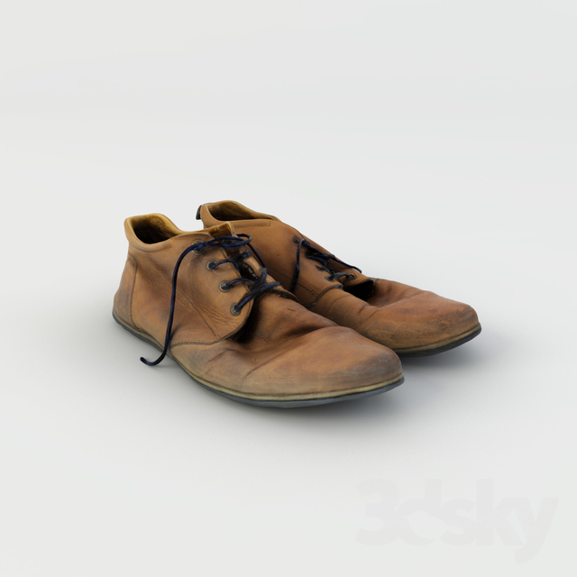 3d models: Clothes and shoes - Old Shoes