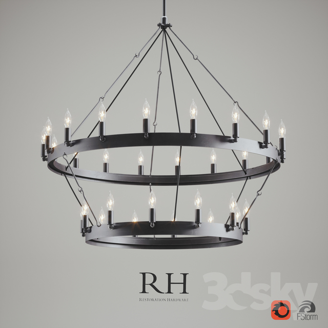 3d Models Ceiling Light Camino Vintage Candelabra 2
