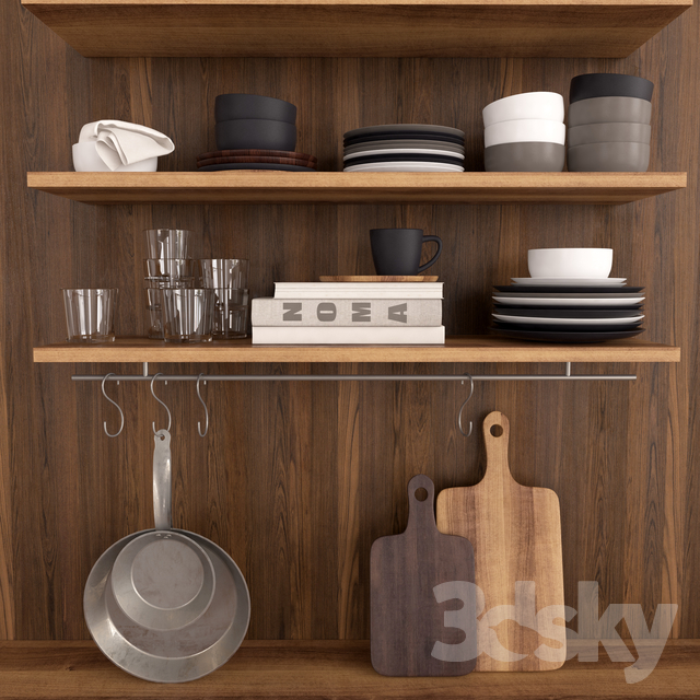 3d Models Tableware Kitchen Set H M Home
