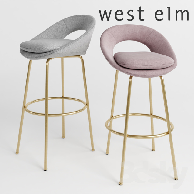 WEST ELM Orb Bar + Counter Stools