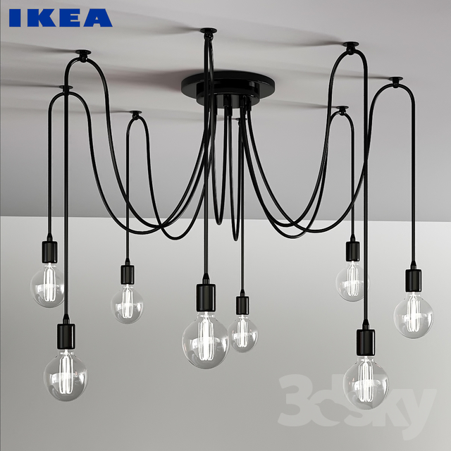 3d models ceiling light lampe araignee ikea. Black Bedroom Furniture Sets. Home Design Ideas