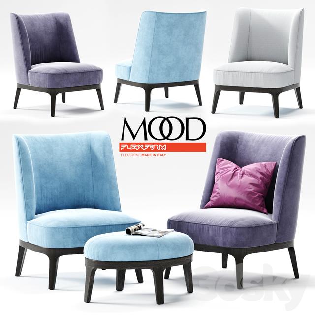 3d Models Arm Chair Flexform Dragonfly Armchair 02