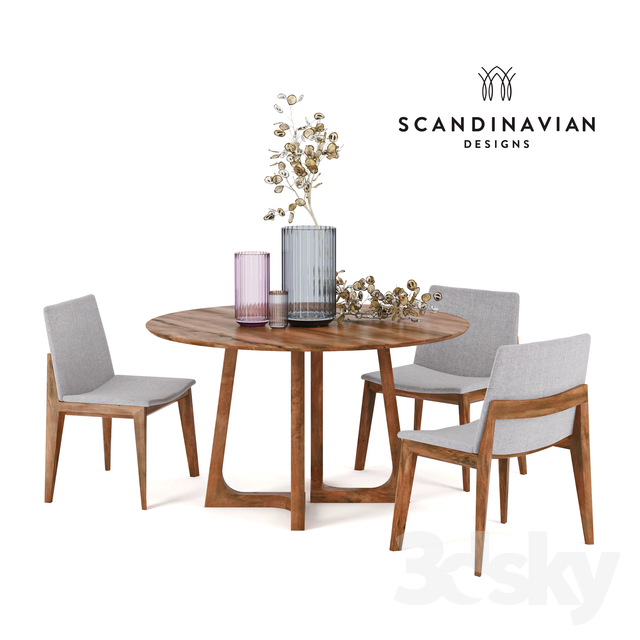 Scandinavian Designs Fuchsia Dining Chair Cress Round Table Lyngby Porcelain