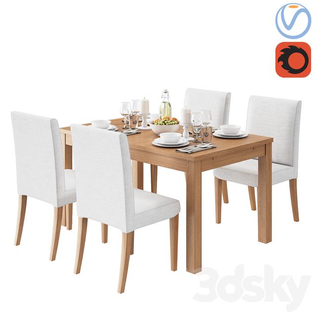 Ikea 4 Person Table Part - 19: IKEA HENRIKSDAL BJURSTA 4 Person