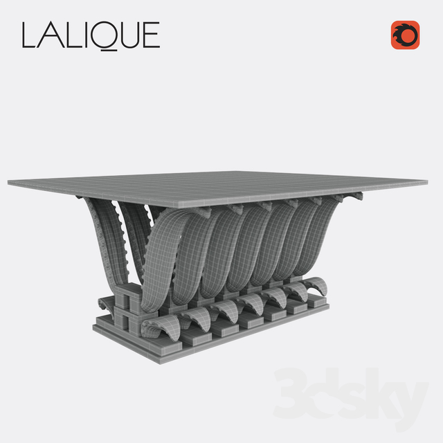 3d Models: Table   Lalique Cactus Rectangular Table
