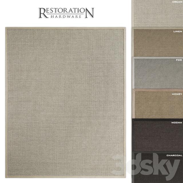 RH Belgian Looped Wool Sisal Rug