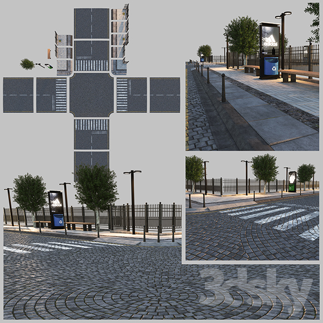 3d models: Other architectural elements - Paving and