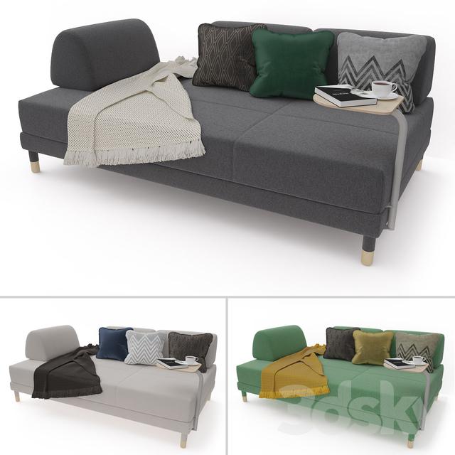 3d Models Sofa Sofa Bed Ikea Flottebo
