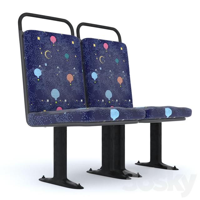 3d models: Chair - Bus seat