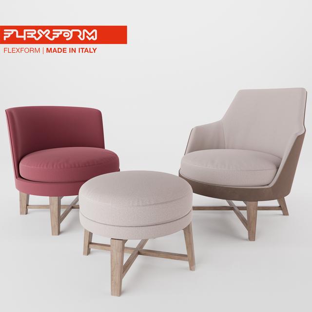FEEL GOOD / GUSCIO armchairs by Flexform