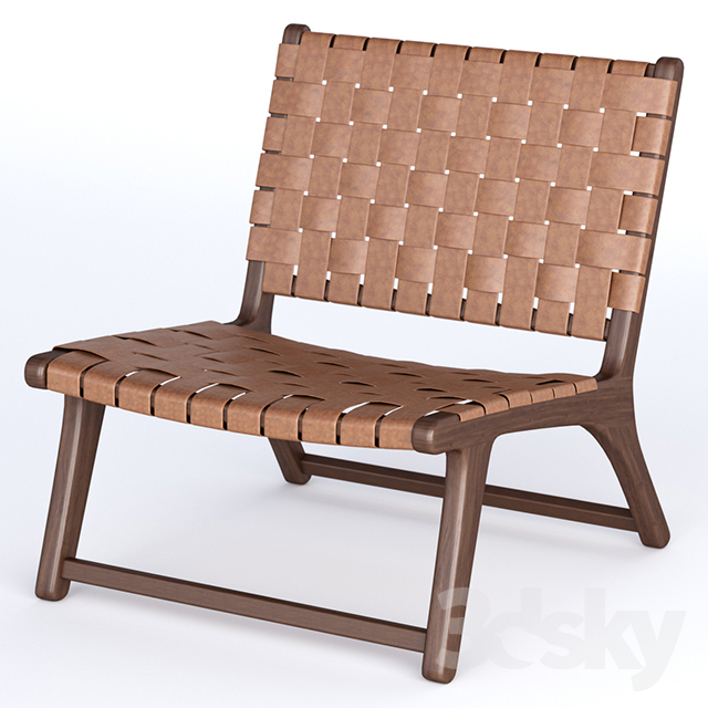 Bolinas Woven Leather Lounge Chair