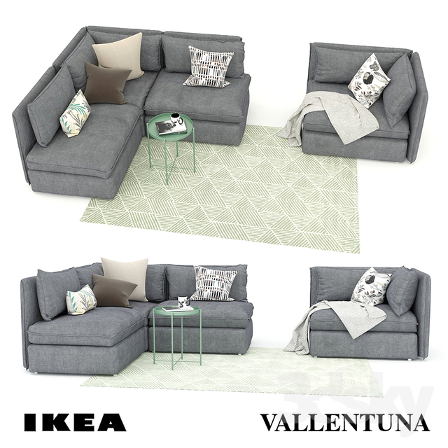 3d Models Sofa Sofa And Armchair Ikea Vallentuna Ikea Vallentuna