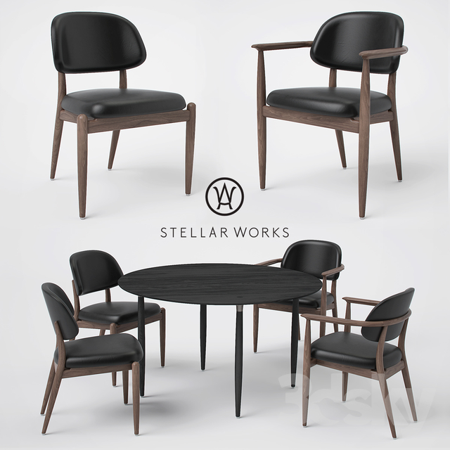 Admirable 3D Models Table Chair Stellar Works Slow Side Chair Caraccident5 Cool Chair Designs And Ideas Caraccident5Info