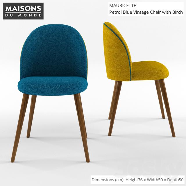 3d models chair maison du monde mauricette chair. Black Bedroom Furniture Sets. Home Design Ideas