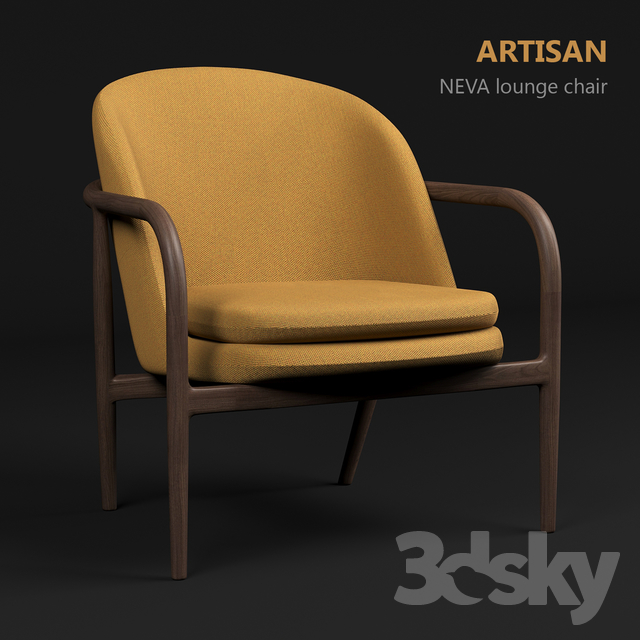 Pleasant 3D Models Arm Chair Artisan Neva Lounge Chair Pabps2019 Chair Design Images Pabps2019Com