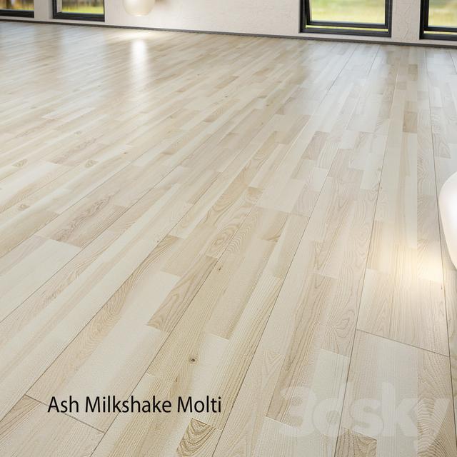 Parquet board Barlinek Floorboard - Decor Line - Ash Milkshake Molti