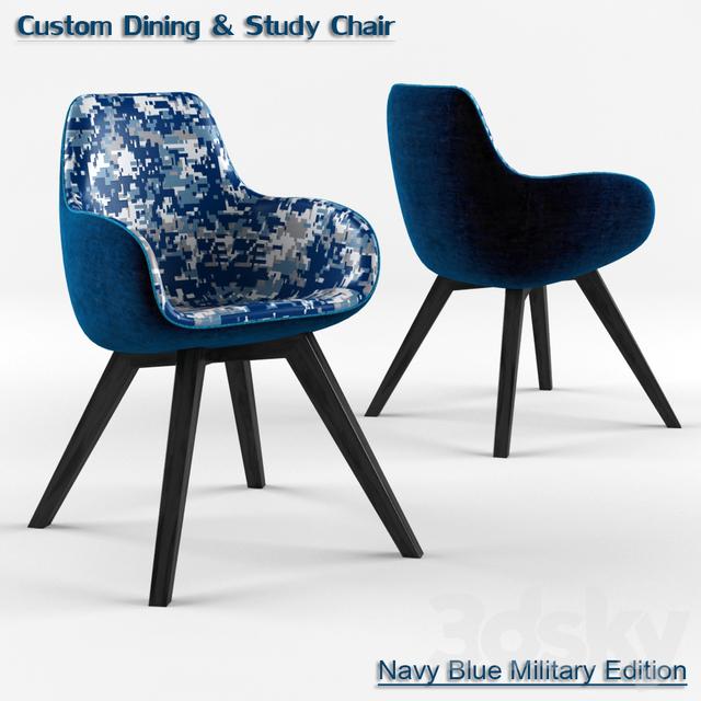 3d Models Chair Custom Dining Amp Study Armchair Navy