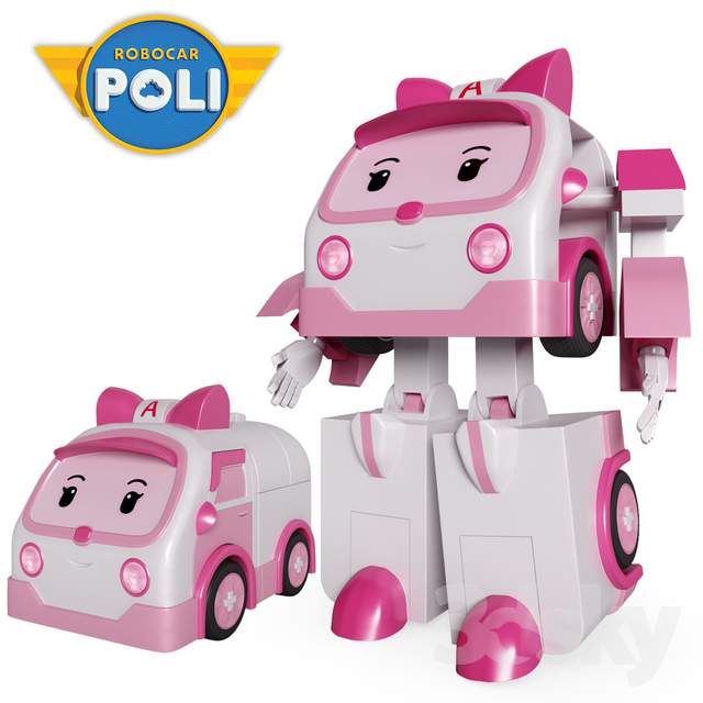3d models toy amber poli robocar - Robocar poli ambre ...