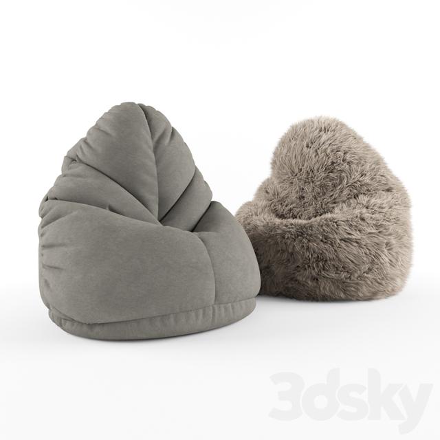 Sensational 3D Models Arm Chair Furry Bean Bag Pabps2019 Chair Design Images Pabps2019Com