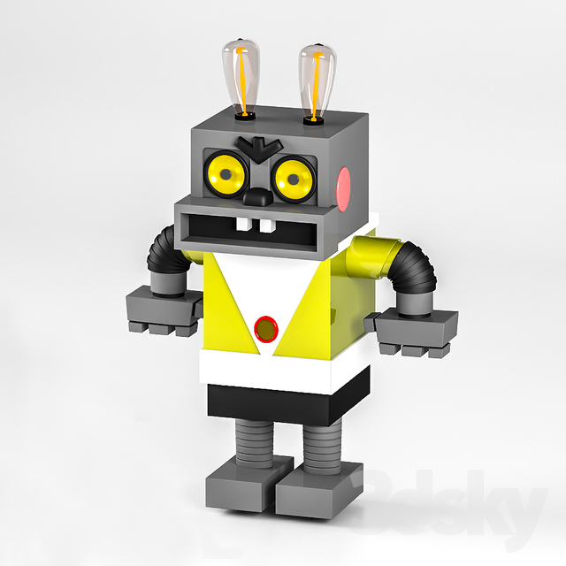 3d models: Toy - Robot Hare