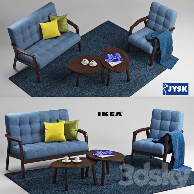 3d models other jysk and ikea living room set for Sofa table jysk