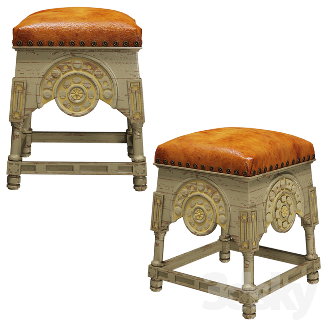 Gray Painted Stools