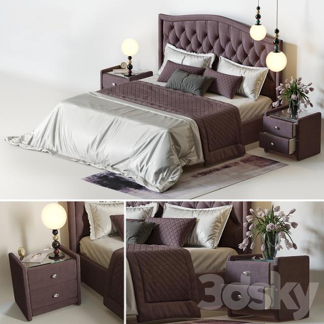 Bedroom Askona, fixtures from the designer Fredrik Mattson