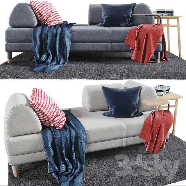 3d models sofa flottebo sofa bed 200x90 cm for 90 cm sofa bed
