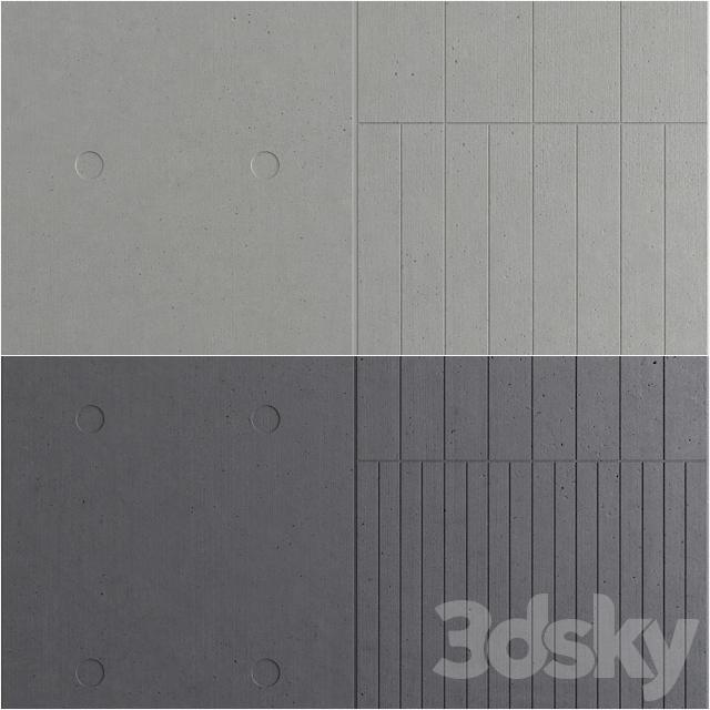 3d models: 3D panel - Concrete LCDA - Panbeton - Beton panels