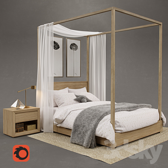 RH / Callum Storage Canopy Bed