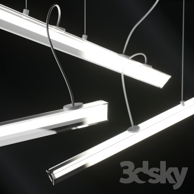 3d models: Ceiling light - Vibia - Halo Lineal 2341 03
