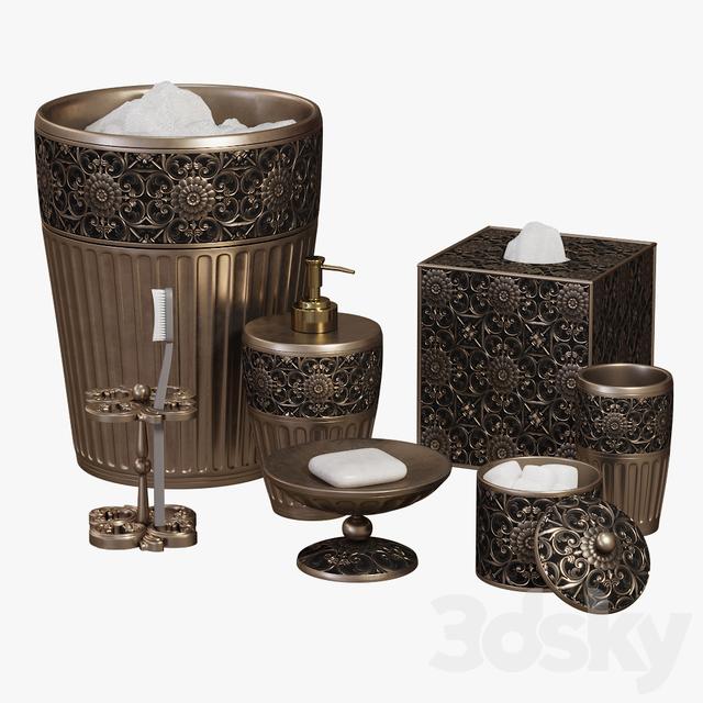 3d Models Bathroom Accessories Marrakesh Bath Accessories By Croscill