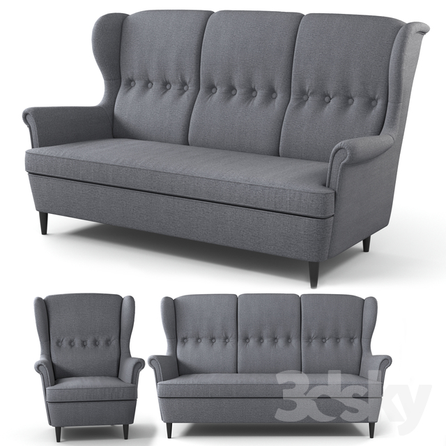 3d models Sofa STRANDMON IKEA