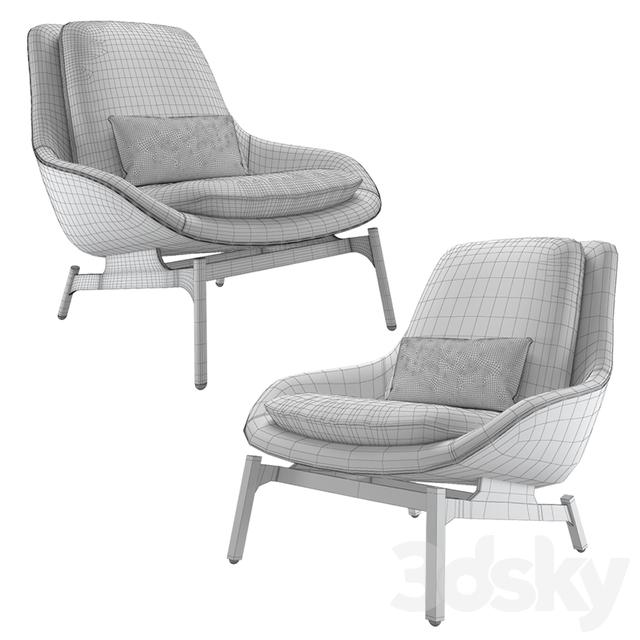 3d Models Arm Chair Blu Dot Field Lounge Chair