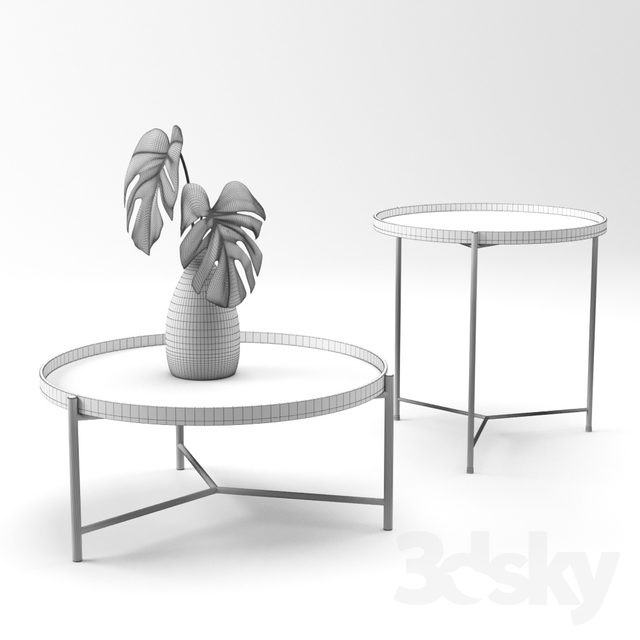Strange 3D Models Table Croft House Bronson Coffee And Side Table Ibusinesslaw Wood Chair Design Ideas Ibusinesslaworg