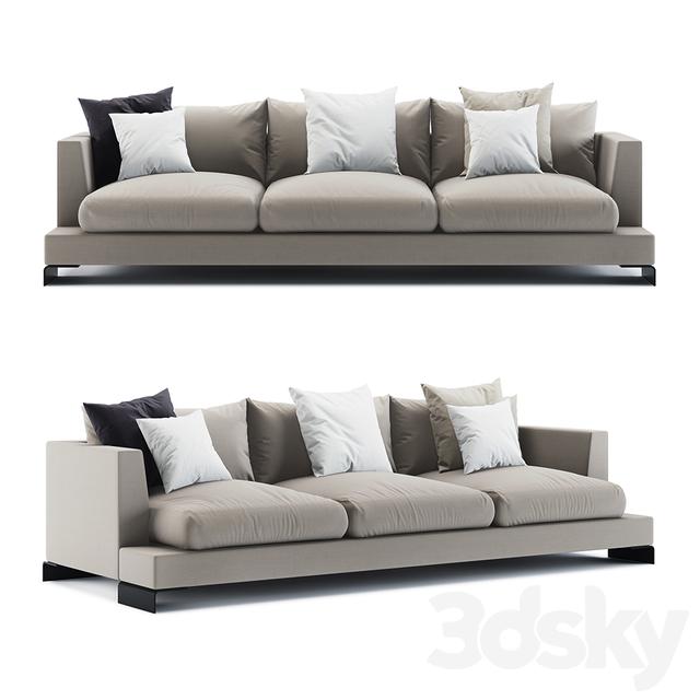 3d models: Sofa - Flexform Long Island