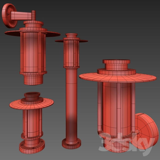 Garden Lamp 3d Model: Outdoor Lamps Of The Model