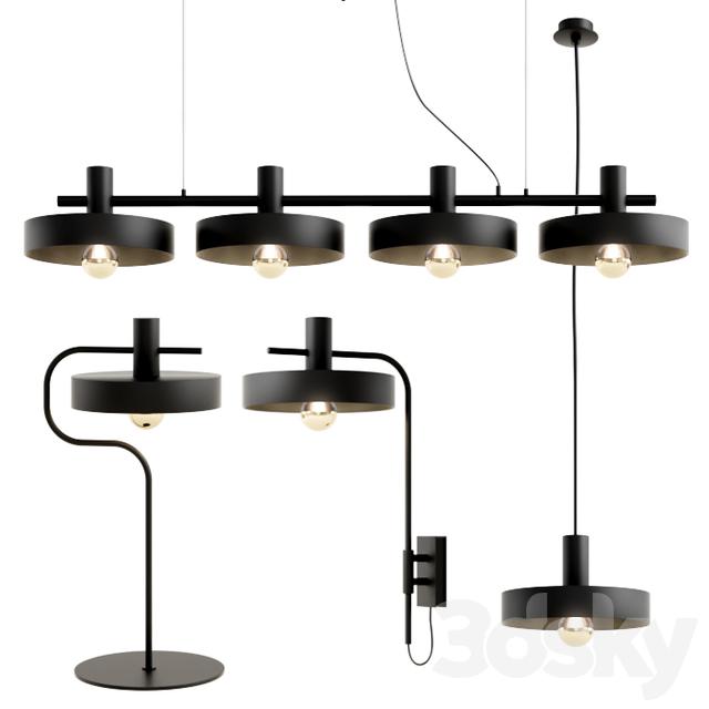 3d models ceiling light aromas del campo aloa set. Black Bedroom Furniture Sets. Home Design Ideas