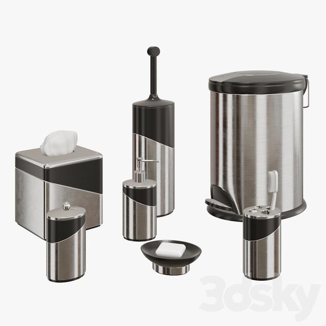 3d models bathroom accessories stainless steel bath accessories. Black Bedroom Furniture Sets. Home Design Ideas